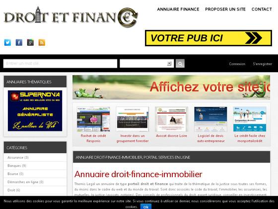 portail des professionnels de la finance et conseil juridique